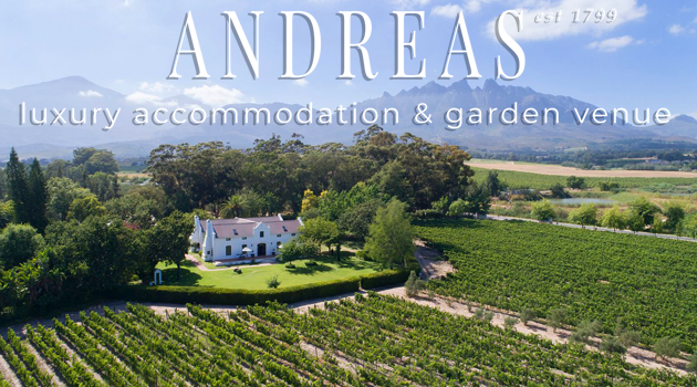 ANDREAS LUXURY ESTATE & GARDEN VENUE, WELLINGTON